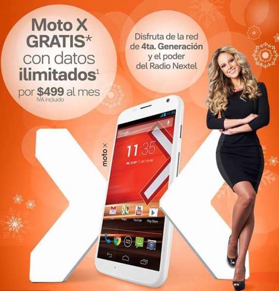 Nextel: Moto X gratis en plan de $499 al mes con datos ilimitados