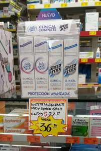 Farmacias Guadalajara, antitranspirante speed stick clinical