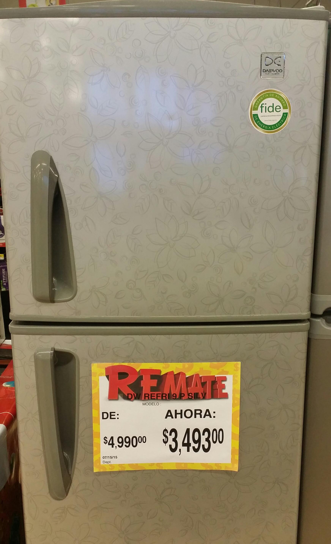 Bodega Aurrerá: refrigerador Daewoo 9 pies