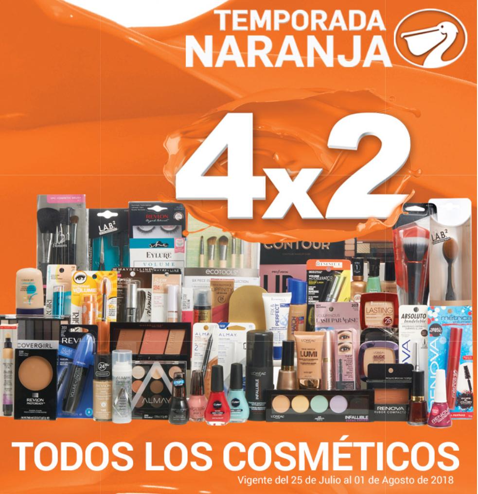 Temporada Naranja en La Comer: 4 x 2 en todos los cosméticos