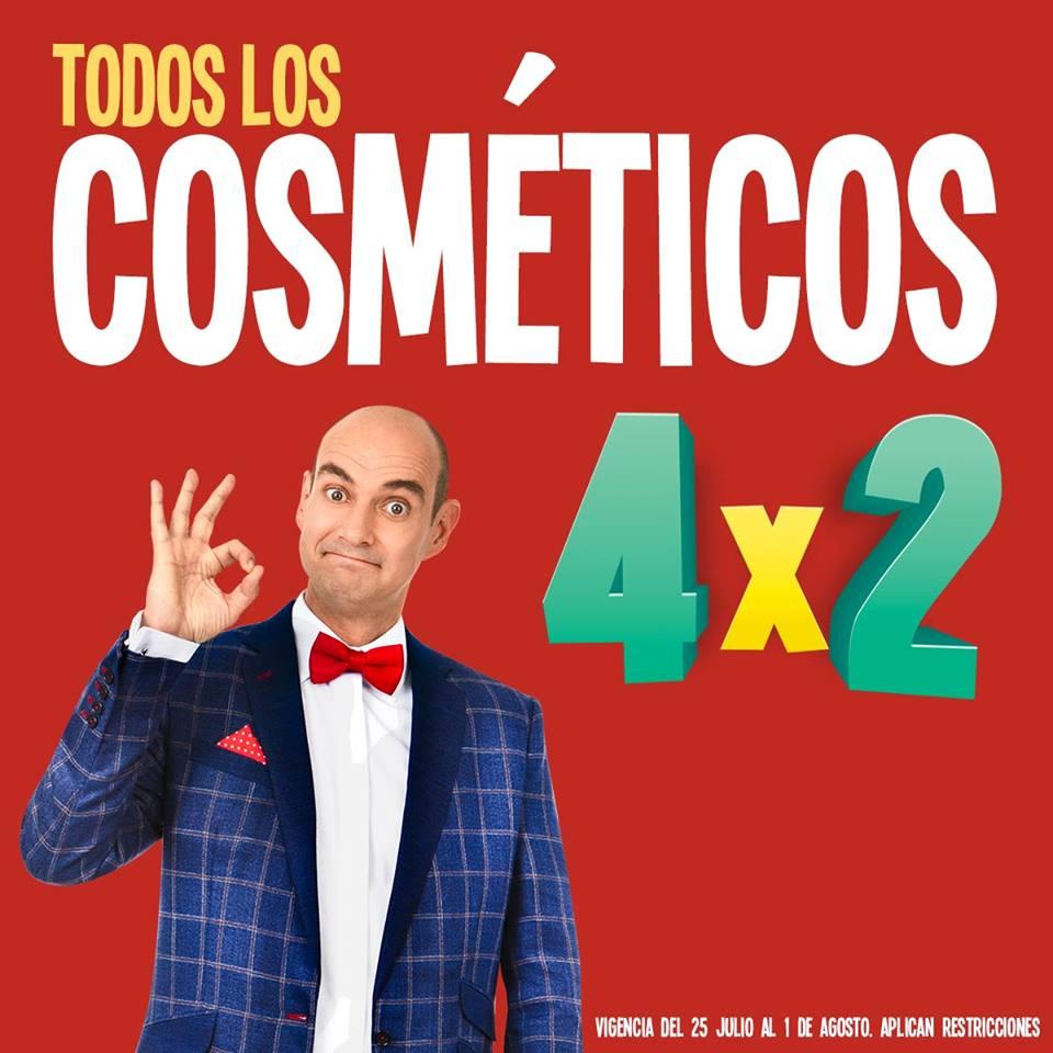 Soriana Híper en Julio Regalado 2018: 4 x 2 en todos los cosméticos