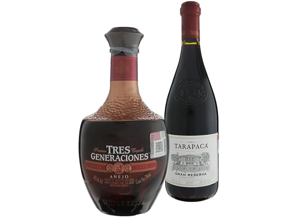 Liverpool: Tequila Tres Generaciones Añejo de 750 ml y Pack Vino Tinto Gran Tarapacá