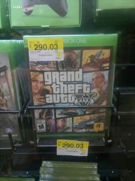 Walmart: GTA V para Xbox One en $290.03