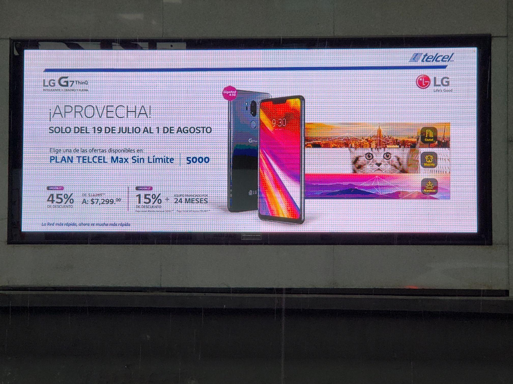 Telcel: LG G7 Thinq a $7,299 en plan sin límite 5000 a 24 meses