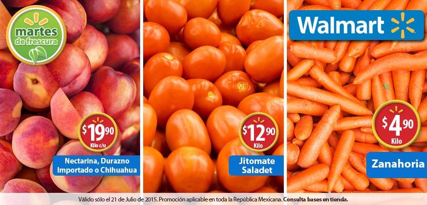 Walmart: Martes de Frescura 21 de julio 2015
