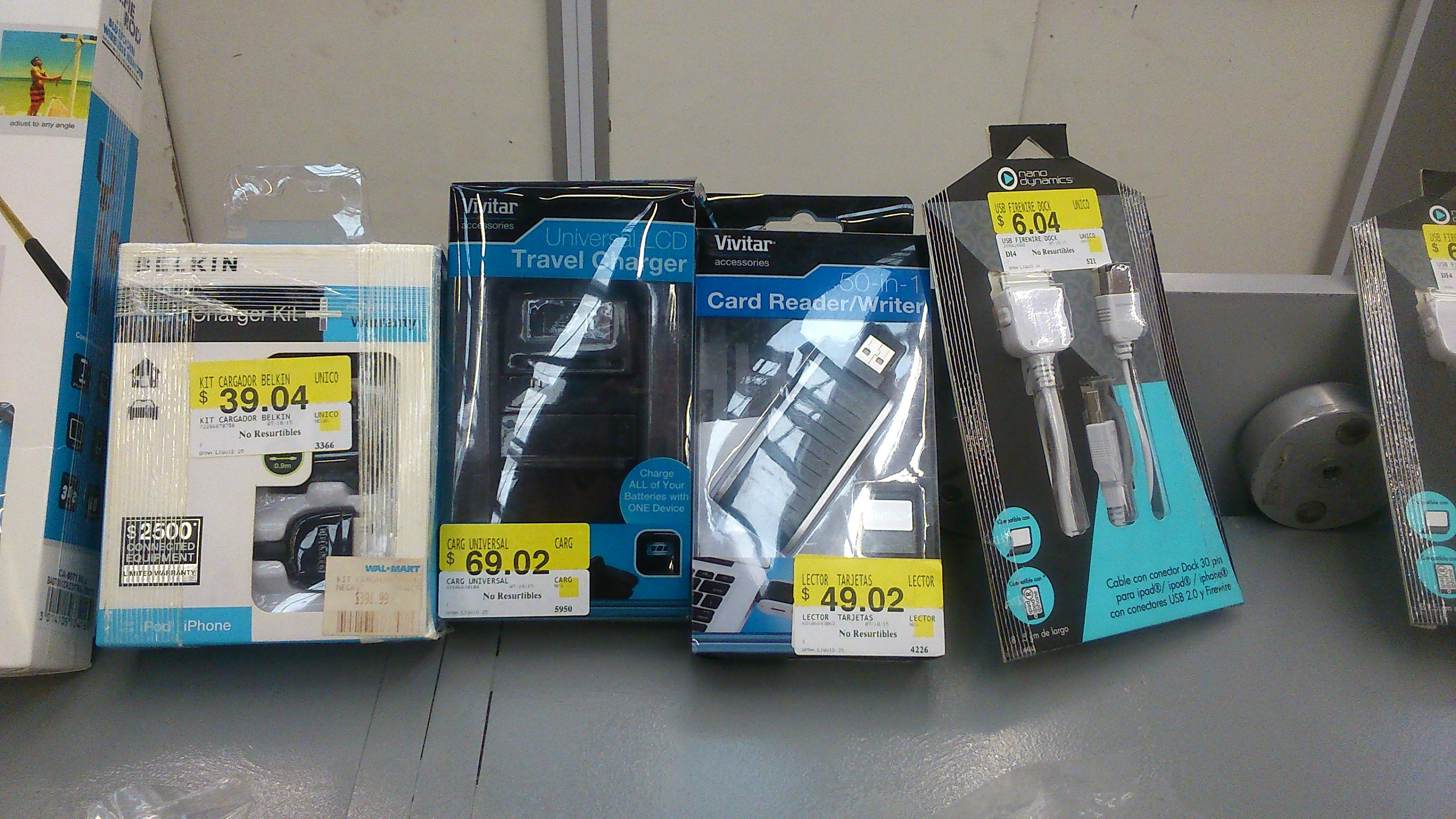 Walmart: Liquidación varios accesorios de electrónica