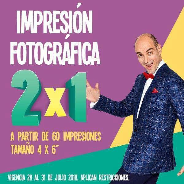 """Julio Regalado 2018: 2 x 1 en impresión fotográfica 4"""" x 6"""" a partir de 60"""