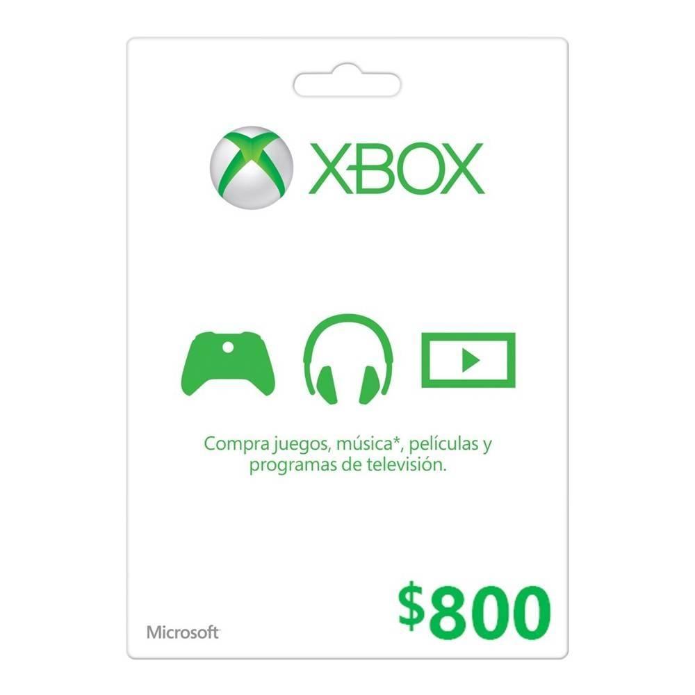 Walmart Tarjeta xbox $800 en $629 usando cupón + mercadopago