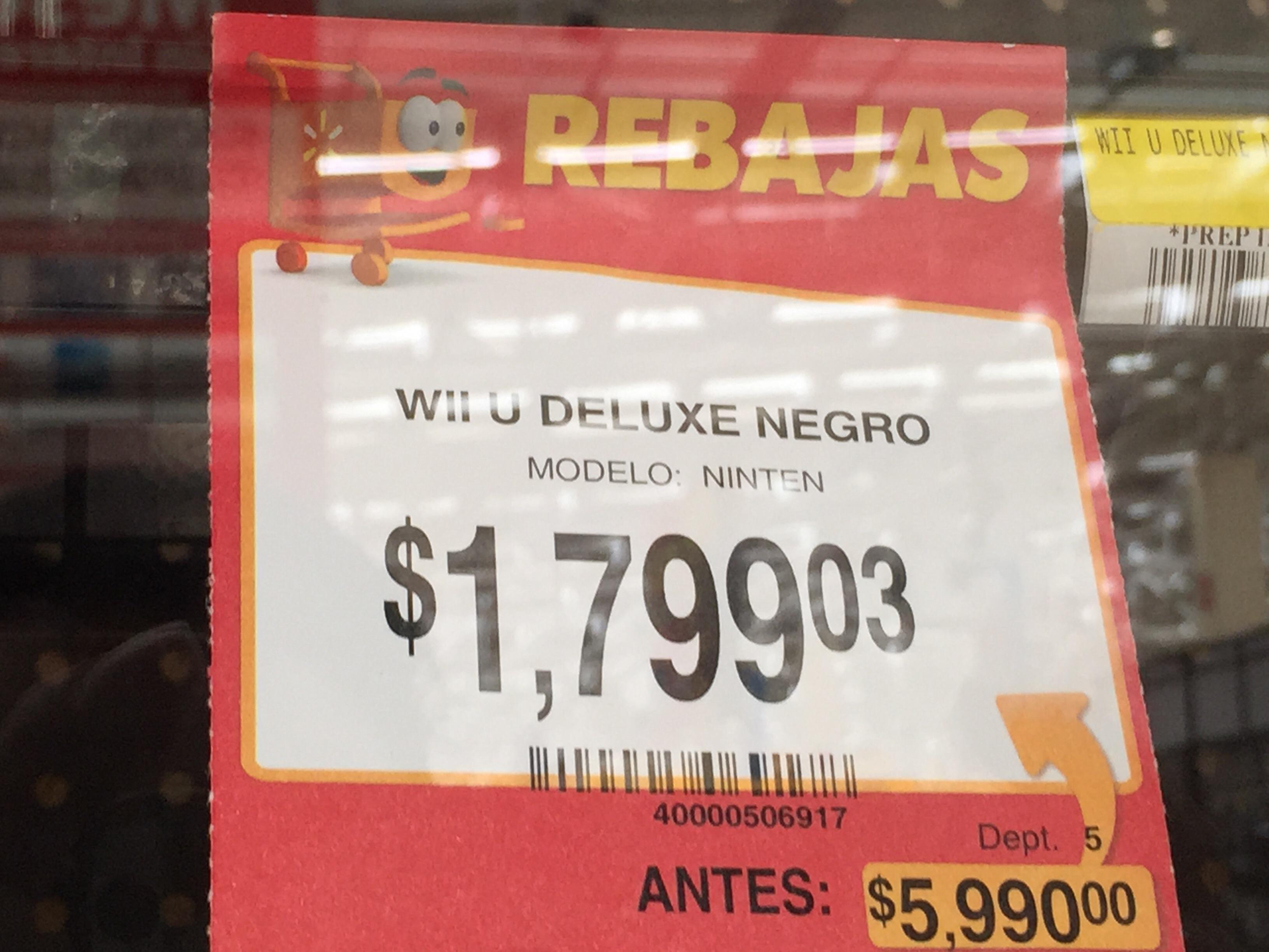 Walmart: Wii u deluxe $1,799.03