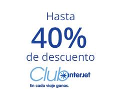 Aniversario de Interjet: hasta 30% de descuento o hasta 40% con Club Interjet