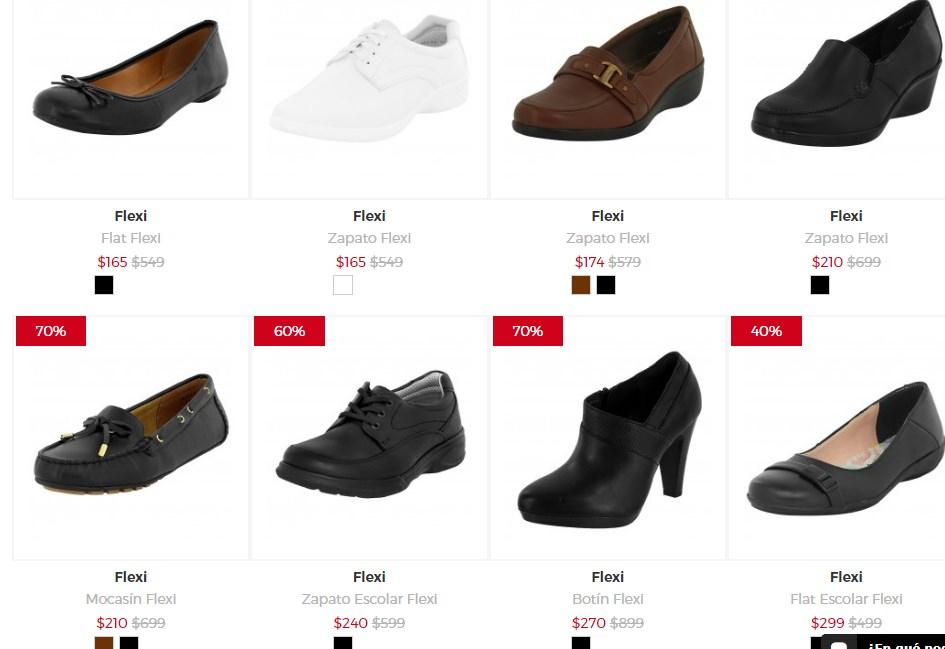 Gaudena: Zapatos flexi desde $165 pesos