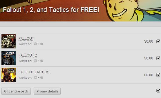 Juegos Fallout, Fallout 2 y Fallout Tactics gratis para PC y Mac