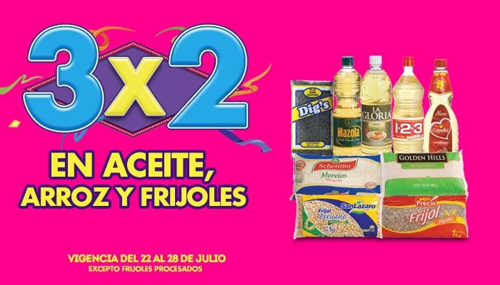 Ofertas de Julio Regalado 2015 en La Comer: 3x2 en limpiadores, jarceria, aceite, arroz y frijoles