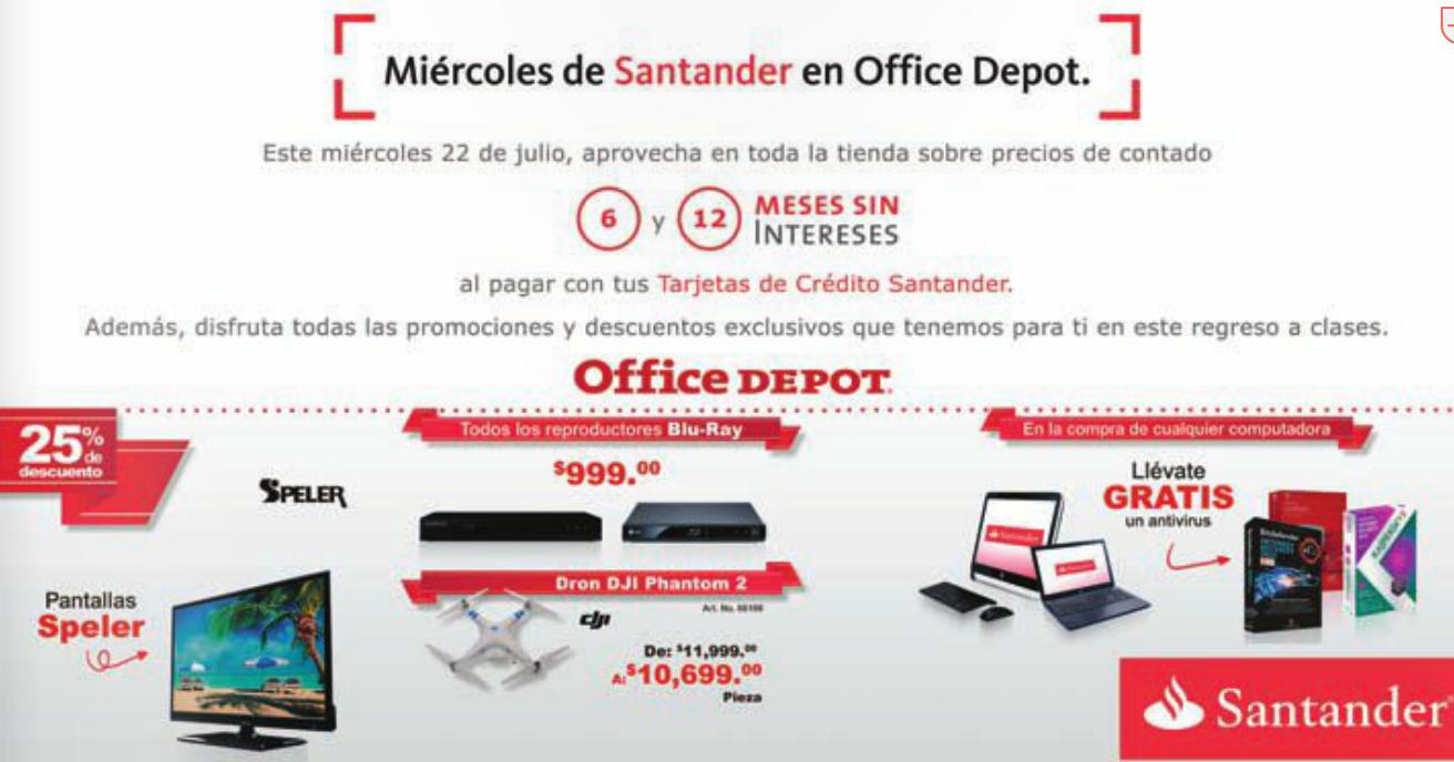 Office Depot: todos los blu-rays a $999 y más ofertas con Santander