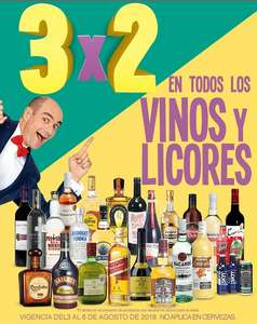 Julio Regalado 2018 en Soriana: 3 x 2 en vinos y licores