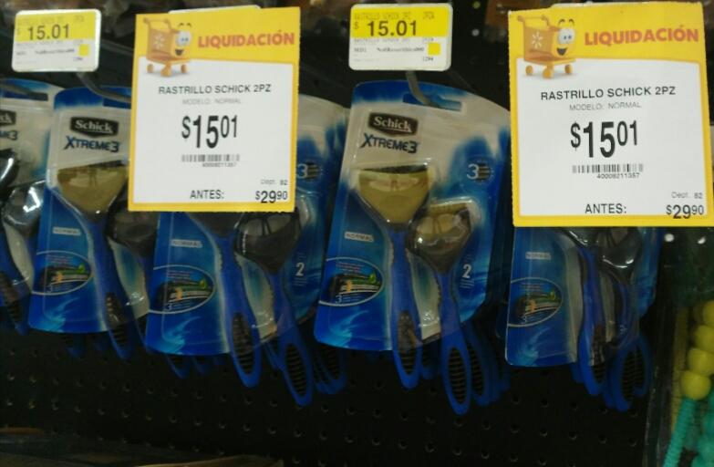Walmart: Rastrillos schick xtreme 3 $15.01
