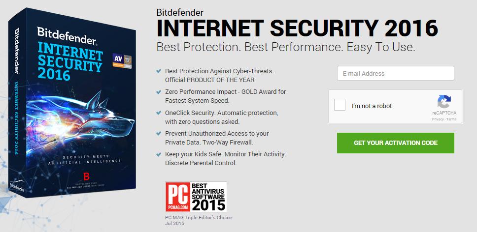 Antivirus Bitdefender 2016: 6 meses gratis (aún vigente)