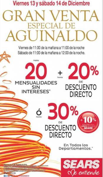 Sears: gran venta especial de aguinaldo