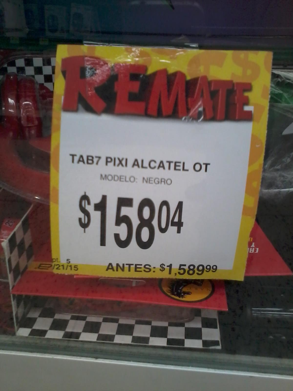 Bodega Aurrerá: tablet pixi alcatel negra $158.04