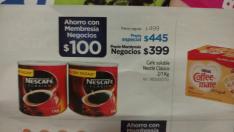 Sam's Club: 2 latas Nescafé de 1 kg (con membresía de negocios)