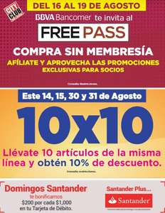 City Club: Free pass del 16 al 19 de Agosto