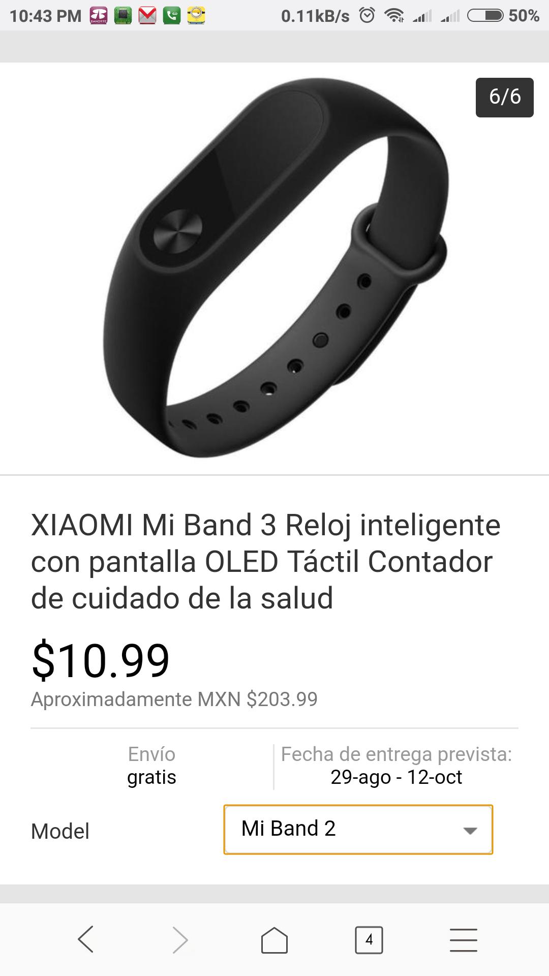 eBay: Xiaomi mi band 2