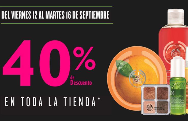 The Body Shop: 40% de descuento en toda la tienda
