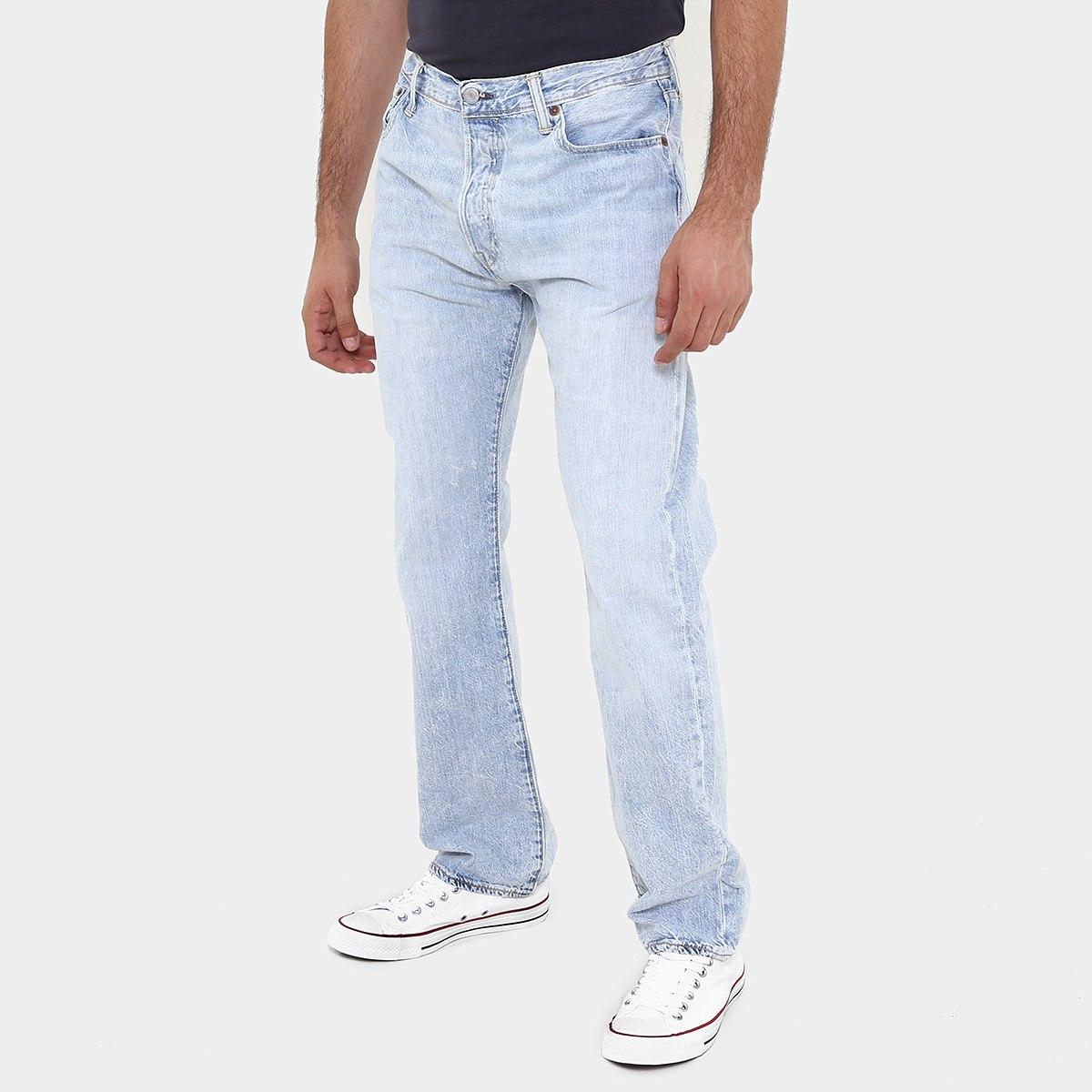 Netshoes Jeans Levi's 501 Original Opacity - Denim