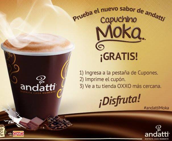 Oxxo: café capuchino moka gratis con cupón (se necesita FB)