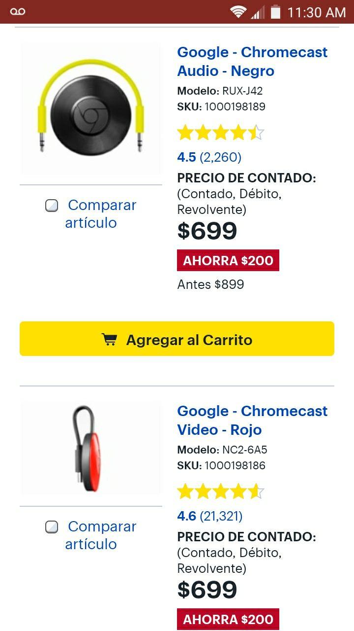 Best Buy: Chromecast 2 y varios modelos.