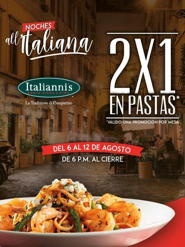 Italianni's: Pastas al 2x1