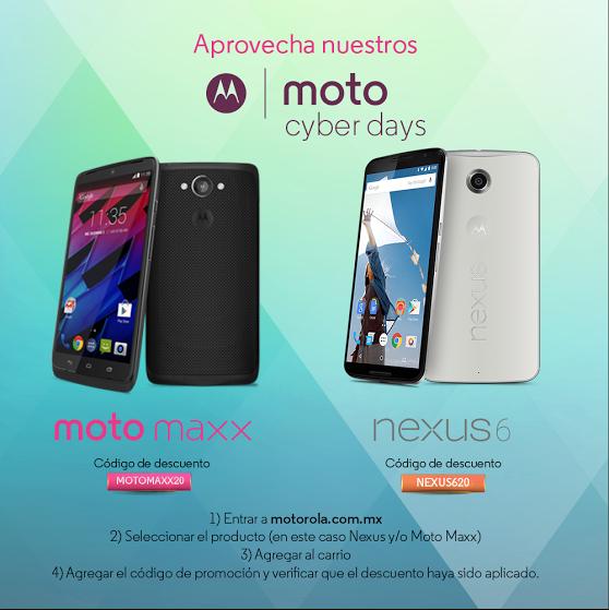 Motorola: 20% Desc. Moto Maxx y Nexus 6