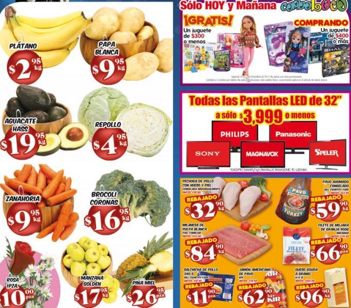 """HEB: juguete de $300 gratis comprando uno de $400, todas las TV LED 32"""" $3,999, plátano $2.95 y +"""