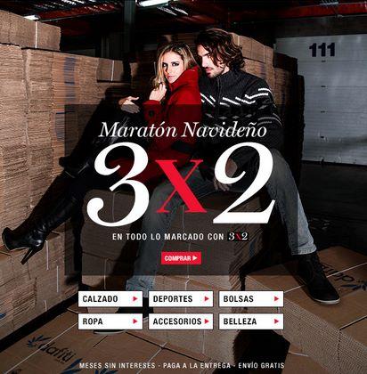 Maratón navideño Dafiti: 3x2 en todo + 20% de descuento adicional con PayPal