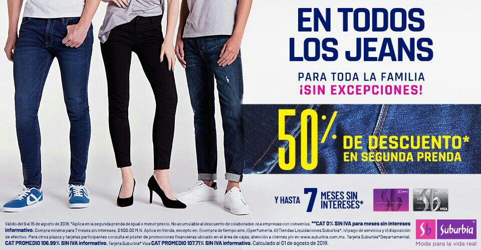 Suburbia: 50% de descuento en la segunda prenda de todos los jeans para toda la familia