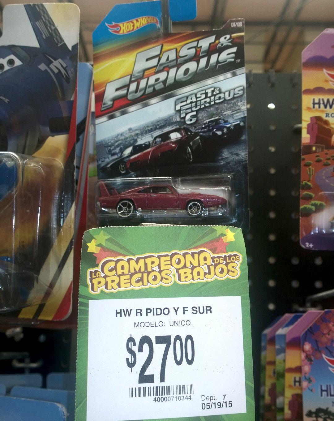 Bodega Aurrerá: Autos HotWheels Rápido y Furioso $27