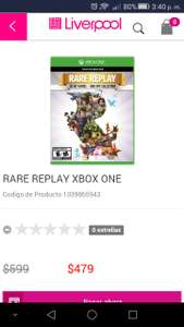 Liverpool: Rare replay Xbox One $479