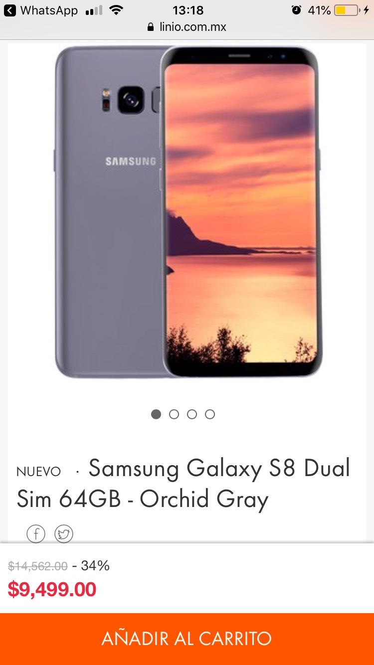 Linio: Samsung Galaxy S8 Dual Sim 64GB - Orchid Gray - envío internacional