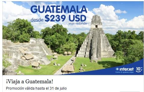 INTERJET: Viaja a Guatemala desde 239 USD