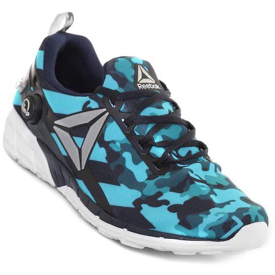 Netshoes: Tenis Reebok Zpump Fusion 2.5 - Azul Marino y Aqua