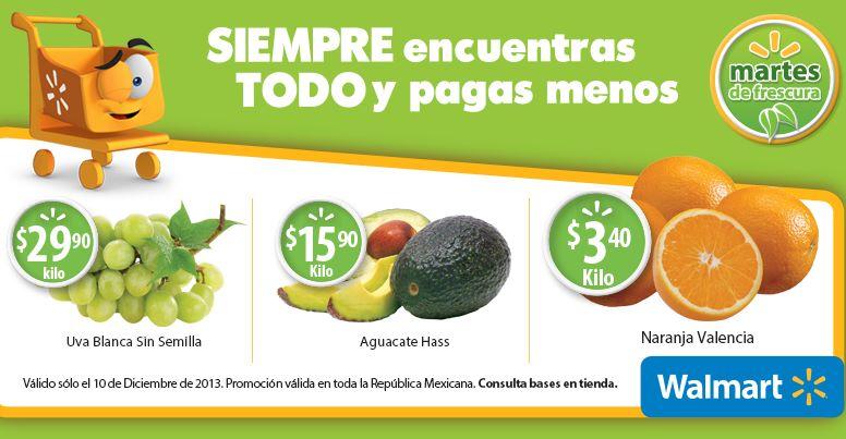 Martes de frescura Walmart diciembre 10: aguacate $15.90 el kilo y más