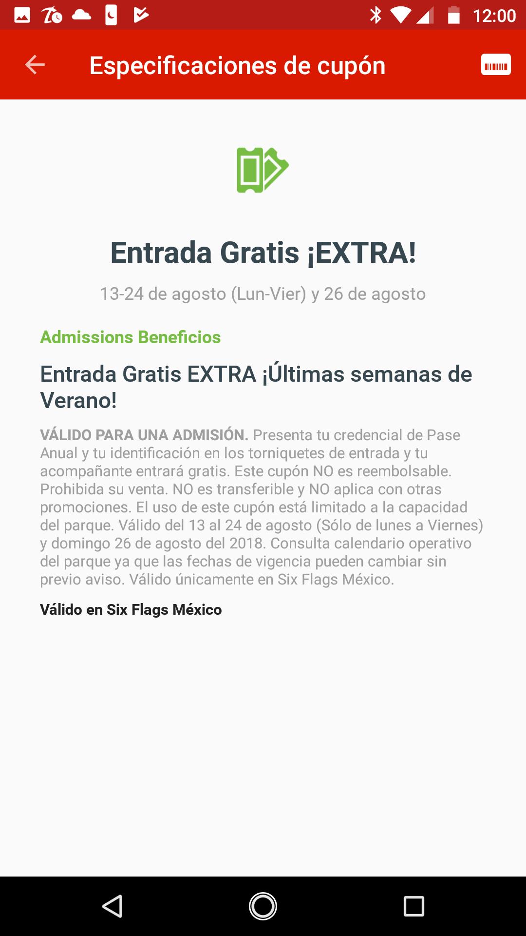 Entrada EXTRA-GRATIS Socios pase anual GOLD SIX FLAGS MÉXICO.