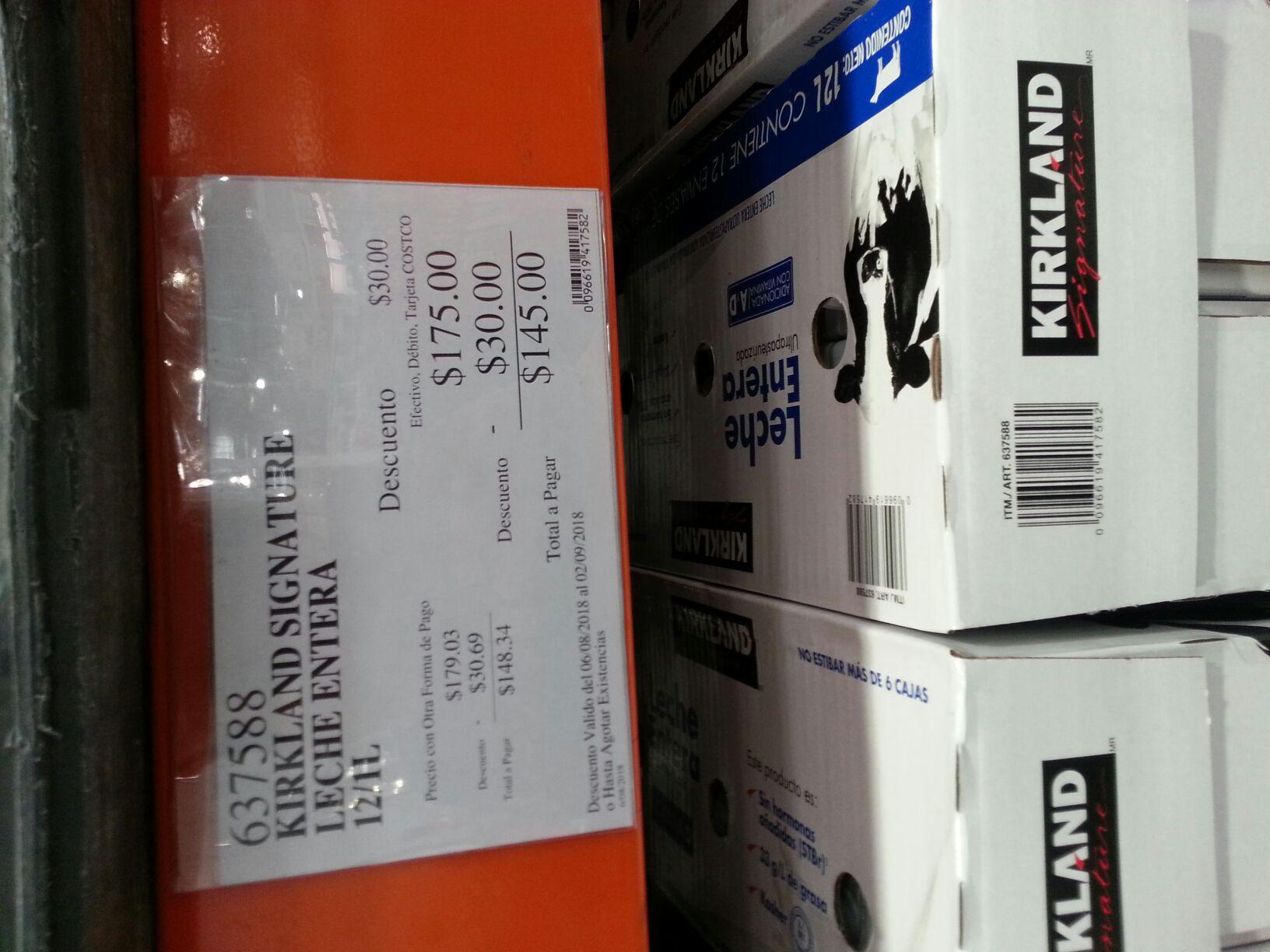 Costco Culiacan: Leche Kirkland $12 el litro