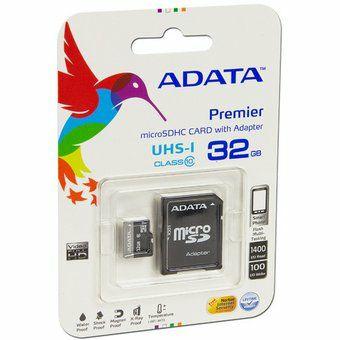 Linio: Memoria ADATA Premier MicroSDHC UHS-1 De 32 GB, Clase 10, Incluye Adaptador SD. AUSDH32GUICL10-RA1