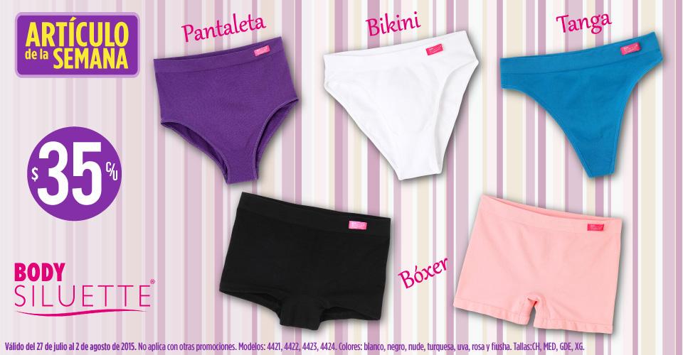 Suburbia: bikini, tanga, pantaleta o bóxer Body Siluette $35