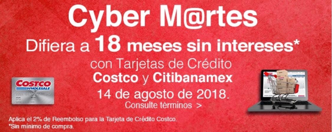 Costco: Cyber M@rtes Costco a 18MSI con tarjetas Costco y Citibanamex