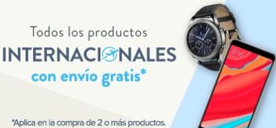 Linio: envío internacional gratis en la compra de 2 o más productos