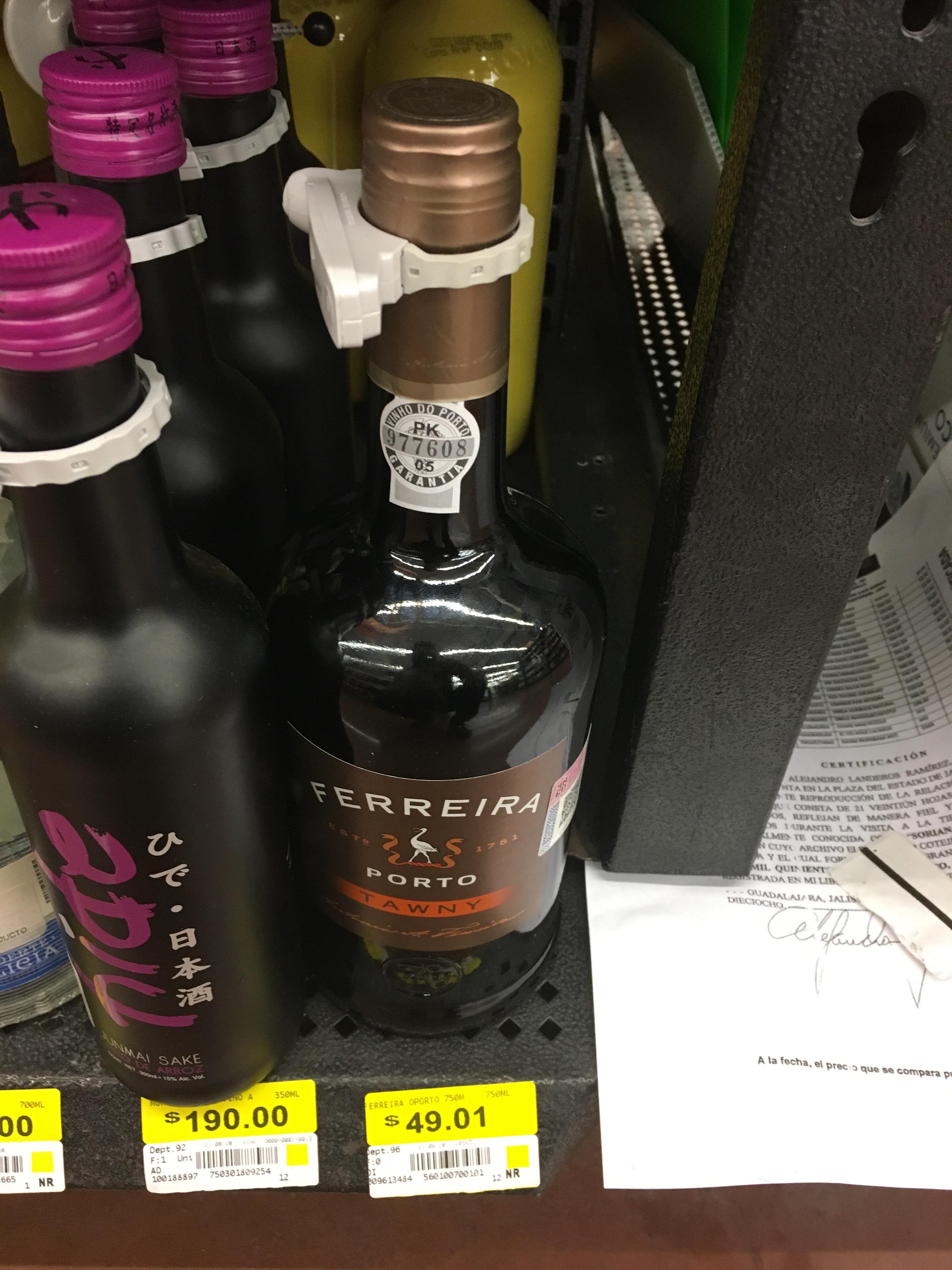 Walmart: Vino tinto Ferreira Porto Tawny a $49.01
