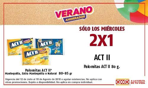 Oxxo: palomitas act II 2*1 los miércoles