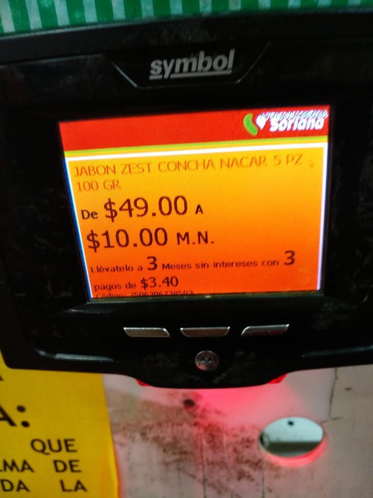 Mercado Soriana: Paquete Jabón Zest Concha Nacar 100gr Paquete de 5 pzas